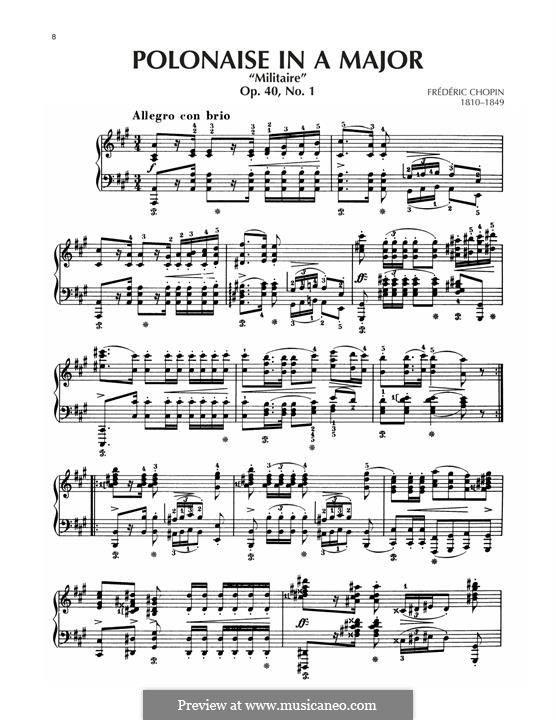 Polonaises, Op.40: No.1 in A Major by Frédéric Chopin