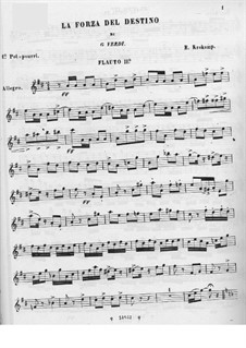 Two Potpourris on Themes from 'The Force of Destiny' by Verdi: flauta parte II by Emmanuele Krakamp