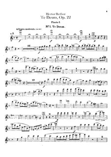 Te Deum, H.118 Op.22: parte de flautas by Hector Berlioz