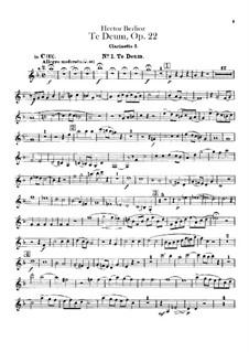 Te Deum, H.118 Op.22: parte clarinetas by Hector Berlioz