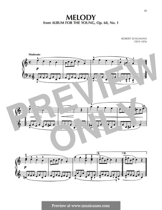 No.1 Melodie (Melody): Para Piano by Robert Schumann