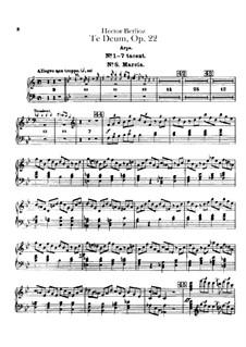 Te Deum, H.118 Op.22: parte harpa by Hector Berlioz