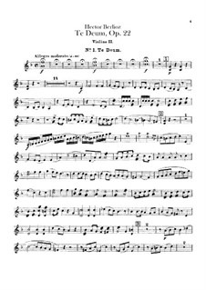 Te Deum, H.118 Op.22: violino parte II by Hector Berlioz
