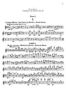 L'enfance du Christ (The Childhood of Christ), H.130 Op.25: parte de flautas by Hector Berlioz