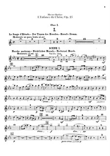 L'enfance du Christ (The Childhood of Christ), H.130 Op.25: Oboe I and oboe II (or cor anglais) parts by Hector Berlioz