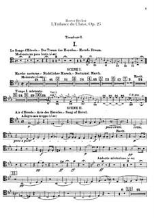 L'enfance du Christ (The Childhood of Christ), H.130 Op.25: parte trombones by Hector Berlioz