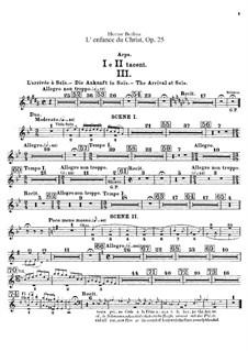 L'enfance du Christ (The Childhood of Christ), H.130 Op.25: parte harpa by Hector Berlioz