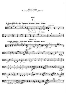 L'enfance du Christ (The Childhood of Christ), H.130 Op.25: parte viola by Hector Berlioz