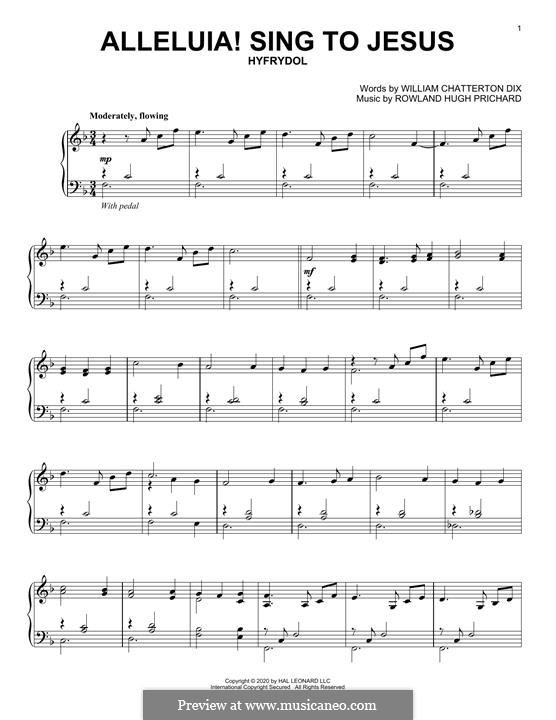 Alleluya, Sing to Jesus: Para Piano by Rowland Huw Prichard