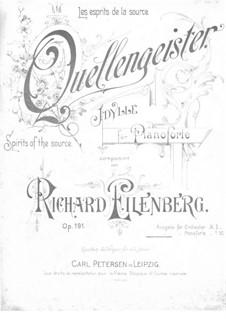 Quellengeister. Idylle, Op.191: Quellengeister. Idylle by Richard Eilenberg