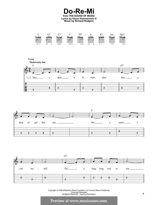 Do-Re-Mi (from The Sound of Music): Para Guitarra by Richard Rodgers