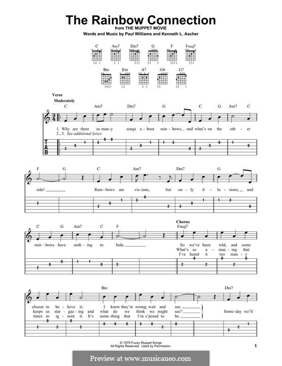The Rainbow Connection (Kermit the Frog): Para Guitarra by Paul H. Williams, Kenneth L. Ascher