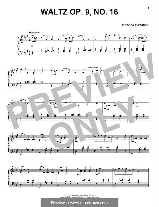 Thirty-Six Original Dances, D.365 Op.9: No.16 Waltz by Franz Schubert