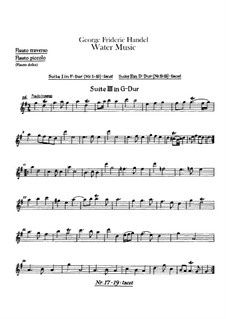 Complete Cycle, HWV 348-350: parte de flautas by Georg Friedrich Händel