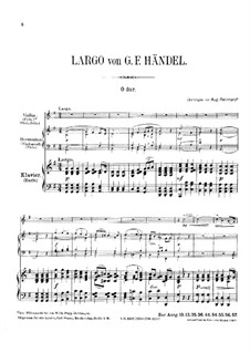 Largo: For violin, harmonium and piano by Georg Friedrich Händel