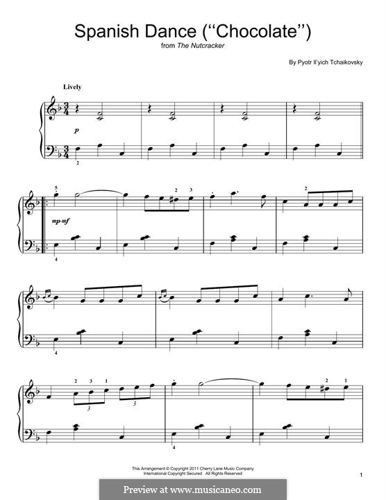 No.12 Divertissement: Spanish Dance by Pyotr Tchaikovsky
