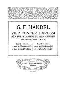 Concerto Grosso No.2, 12, HWV 320, 330: para dois pianos de quatro mãos - piano parte I by Georg Friedrich Händel