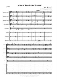 A Set of Dances: partitura completa by Michael Praetorius