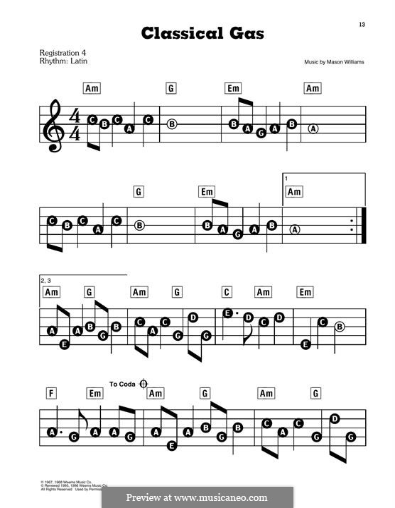 Classical Gas: Para Piano by Mason Williams