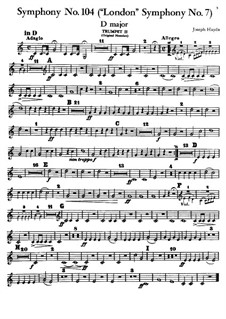 Symphony No.104 in D Major 'London', Hob.I/104: Trompete II parte by Joseph Haydn