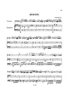Sonata for Piano No.30 in D Major, Hob.XVI/19: movimento II, Versão para violoncelo e piano by Joseph Haydn