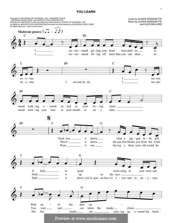 You Learn: para teclado by Alanis Morissette, Glen Ballard