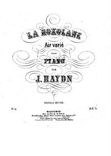 La Roxolane. Air varié: Para Piano by Joseph Haydn
