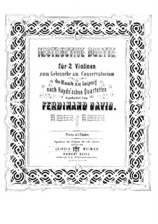 String Quartet No.40 in F Major, Hob.III/48 Op.50 No.5: Version for two violins by Joseph Haydn
