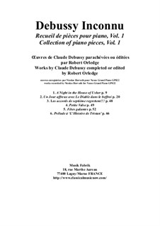 Album of works for the piano: Volume 1 by Claude Debussy