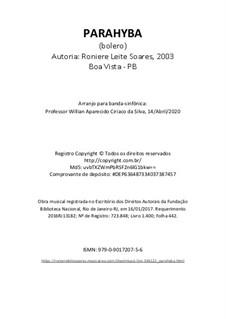 Parahyba: Para banda sinfônica by Roniere Leite Soares
