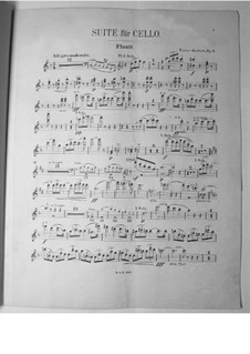 Suite for Cello and Orchestra, Op.3: parte flauta by Victor Herbert
