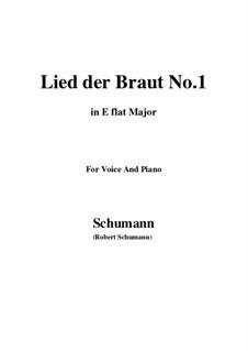 No.11 Lied der Braut (Bride's Song): E flat maior by Robert Schumann