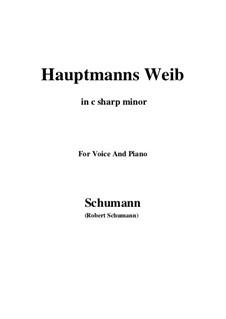 No.19 Hauptmann's Weib (La femme du chef): C sharp minor by Robert Schumann