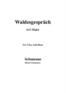 No.3 Waldesgespräch (In the Forest): E Major by Robert Schumann