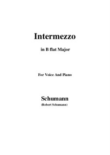 No.2 Intermezzo: B flat Maior by Robert Schumann