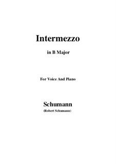 No.2 Intermezzo: B Major by Robert Schumann