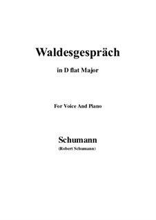 No.3 Waldesgespräch (In the Forest): D flat Major by Robert Schumann