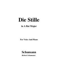 No.4 Die Stille (Stillness): A flat Major by Robert Schumann