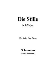 No.4 Die Stille (Stillness): B Major by Robert Schumann