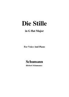 No.4 Die Stille (Stillness): G flat Major by Robert Schumann