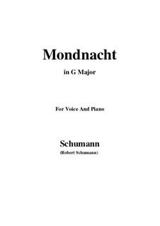 No.5 Mondnacht (Moonlight Night): G maior by Robert Schumann