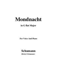 No.5 Mondnacht (Moonlight Night): G flat Major by Robert Schumann