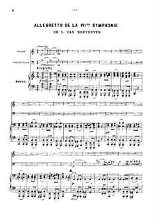 Movement II: Versão para trio de piano by Ludwig van Beethoven