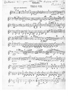 Trio for Violin, Cello and Piano No.7 'Archduke', Op.97: parte do violino by Ludwig van Beethoven