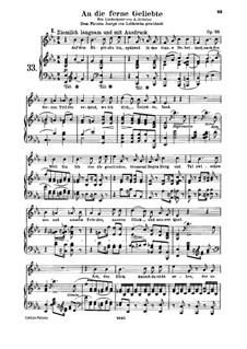 An die ferne Geliebte (To the Distant Beloved), Op.98: Partitura piano-vocal by Ludwig van Beethoven