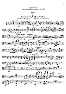 Symphonie fantastique (Fantastic Symphony), H.48 Op.14: parte violas by Hector Berlioz