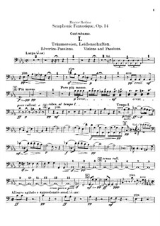 Symphonie fantastique (Fantastic Symphony), H.48 Op.14: Parte contrabaixo by Hector Berlioz