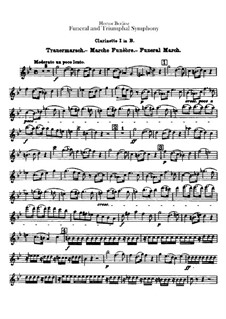 Grand Funeral and Triumphal Symphony, H.80 Op.15: Clarinets in B and bass clarinet parts by Hector Berlioz