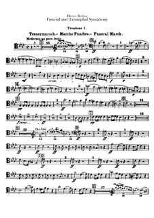 Grand Funeral and Triumphal Symphony, H.80 Op.15: parte trombones by Hector Berlioz