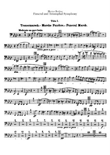 Grand Funeral and Triumphal Symphony, H.80 Op.15: Tubas parts by Hector Berlioz